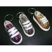 MIXED GLITTER SNEAKERS KEYRING