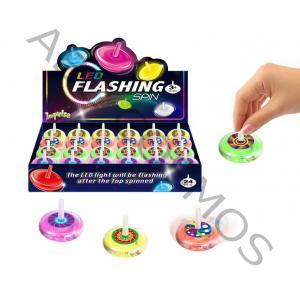 LED FLASHING SPIN TOP (3.3cm)