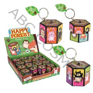 3.8CM FOREST TWISTY PUZZLE KEYRING